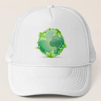 Green Earth Recycle Symbol Trucker Hat
