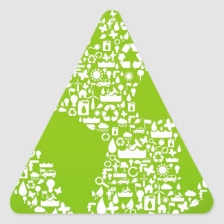Green Earth / Recycle Triangle Sticker