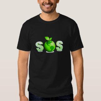 Green Earth SOS Earth Day Message Tee Shirt