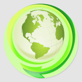 Green earth sticker