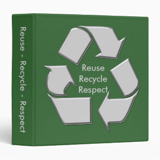 Green Earthday Recycle Binder Notebook