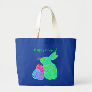 Green Easter Bunny And Eggs Tote Bag