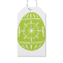 Green Easter Egg Gift Tags