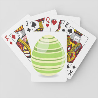 Green Easter Egg Playing Cards