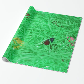 Green Easter Grass Background Gift Wrap Paper