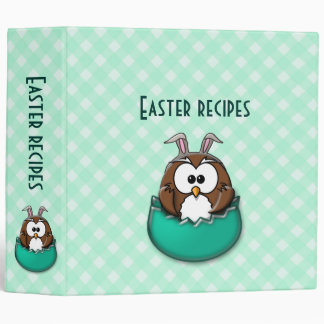green Easter owl - binder