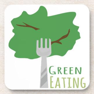 Green Eating Beverage Coaster