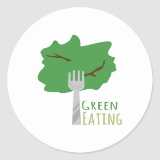 Green Eating Classic Round Sticker