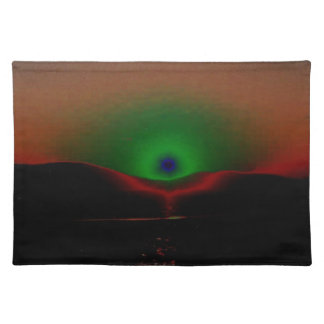 Green Eclipse Cloth Placemat