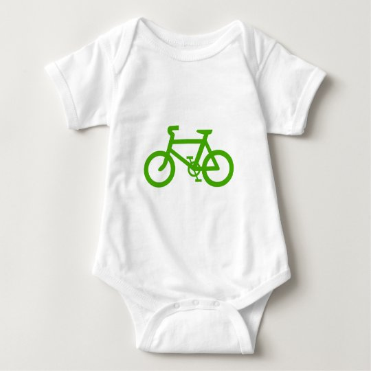 Green Eco Bicycle Baby Bodysuit
