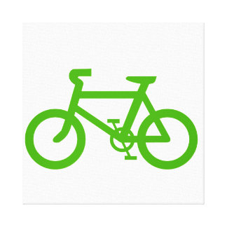 Green Eco Bicycle Canvas Print