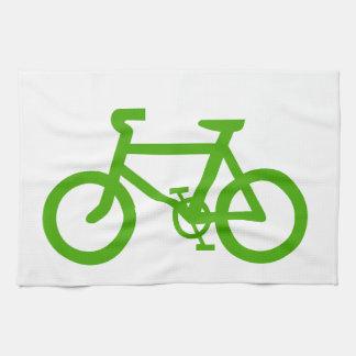 Green Eco Bicycle Hand Towel