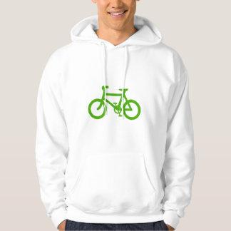 Green Eco Bicycle Hoodie