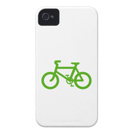 Green Eco Bicycle iPhone 4 Case-Mate Cases