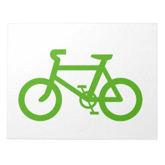 Green Eco Bicycle Memo Pad