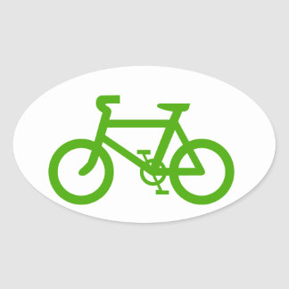 Green Eco Bicycle Stickers