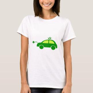 Green Eco Electric Car - Ecology, Enviroment T-Shirt