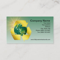 Green Eco-Friendly Business Card