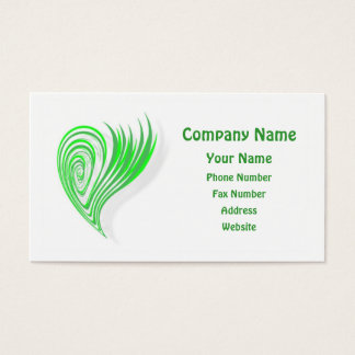 Green Eco-Friendly Design Business Card