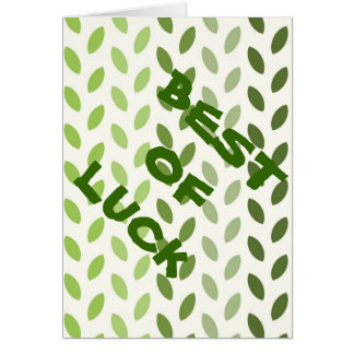 Green Eco Leaves Card