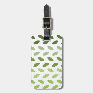 Green Eco Leaves Bag Tag