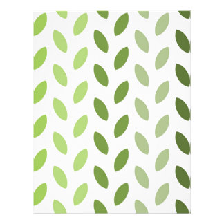 Green Eco Leaves Personalized Letterhead