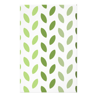 Green Eco Leaves Stationery Paper