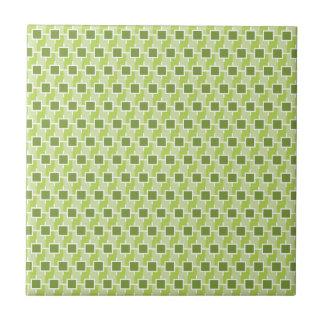 Green ECO SQUARE pattern Tile