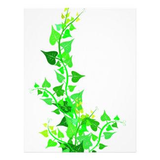 green eco vine personalized letterhead