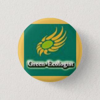 Green-Ecologist Party Logo Button