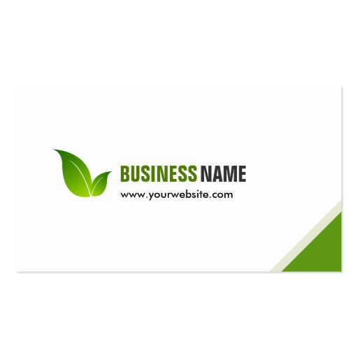 Green Ecology Bio - Elegant Organic Recyclable Business Card Templates (back side)