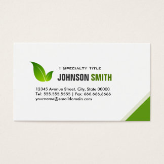 Green Ecology Bio - Elegant Organic Recyclable Business Card