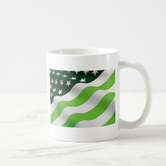 Green (ecology) flag coffee mug