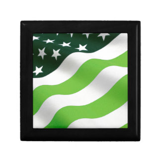 Green (ecology) flag jewelry boxes
