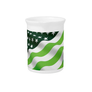Green (ecology) flag beverage pitchers
