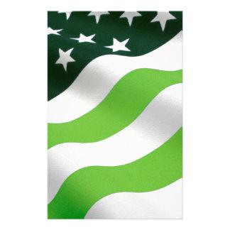 Green (ecology) flag stationery