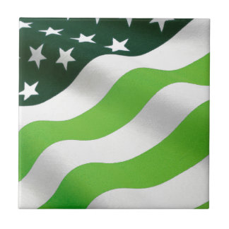 Green (ecology) flag small square tile