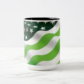 Green (ecology) flag Two-Tone coffee mug