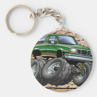 Green Eddie Bauer Bronco Keychain