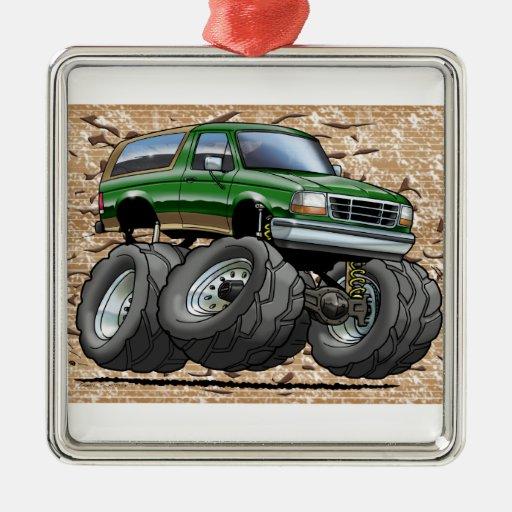 Green Eddie Bauer Bronco Ornaments
