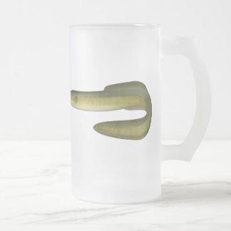 Green Eel Frosted Glass Beer Mug