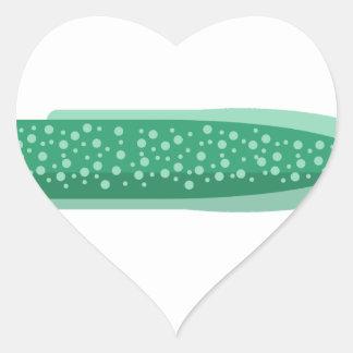 Green Eel Primitive Style Heart Sticker