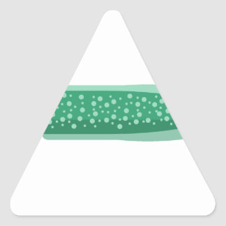 Green Eel Primitive Style Triangle Sticker