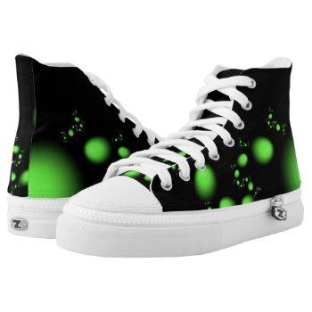 Green Egg Fractal High-Top Sneakers