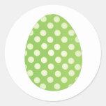 Green Egg Round Sticker