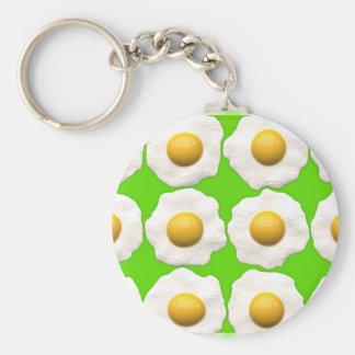 green eggs basic round button keychain