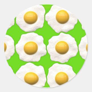 green eggs classic round sticker