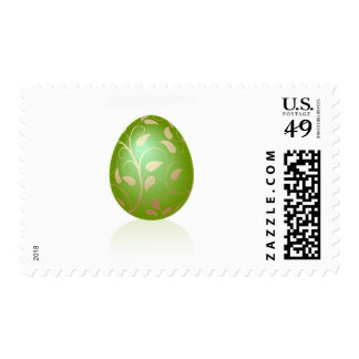 Green Eggs with gold leaf design. Postage