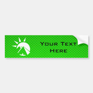 Green Egyptian Pyramid Car Bumper Sticker