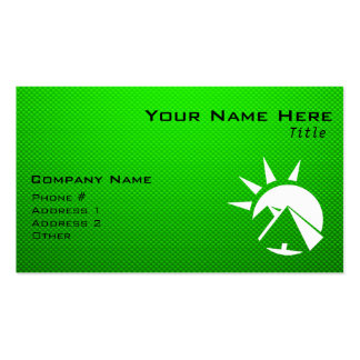 Green Egyptian Pyramid Double-Sided Standard Business Cards (Pack Of 100)